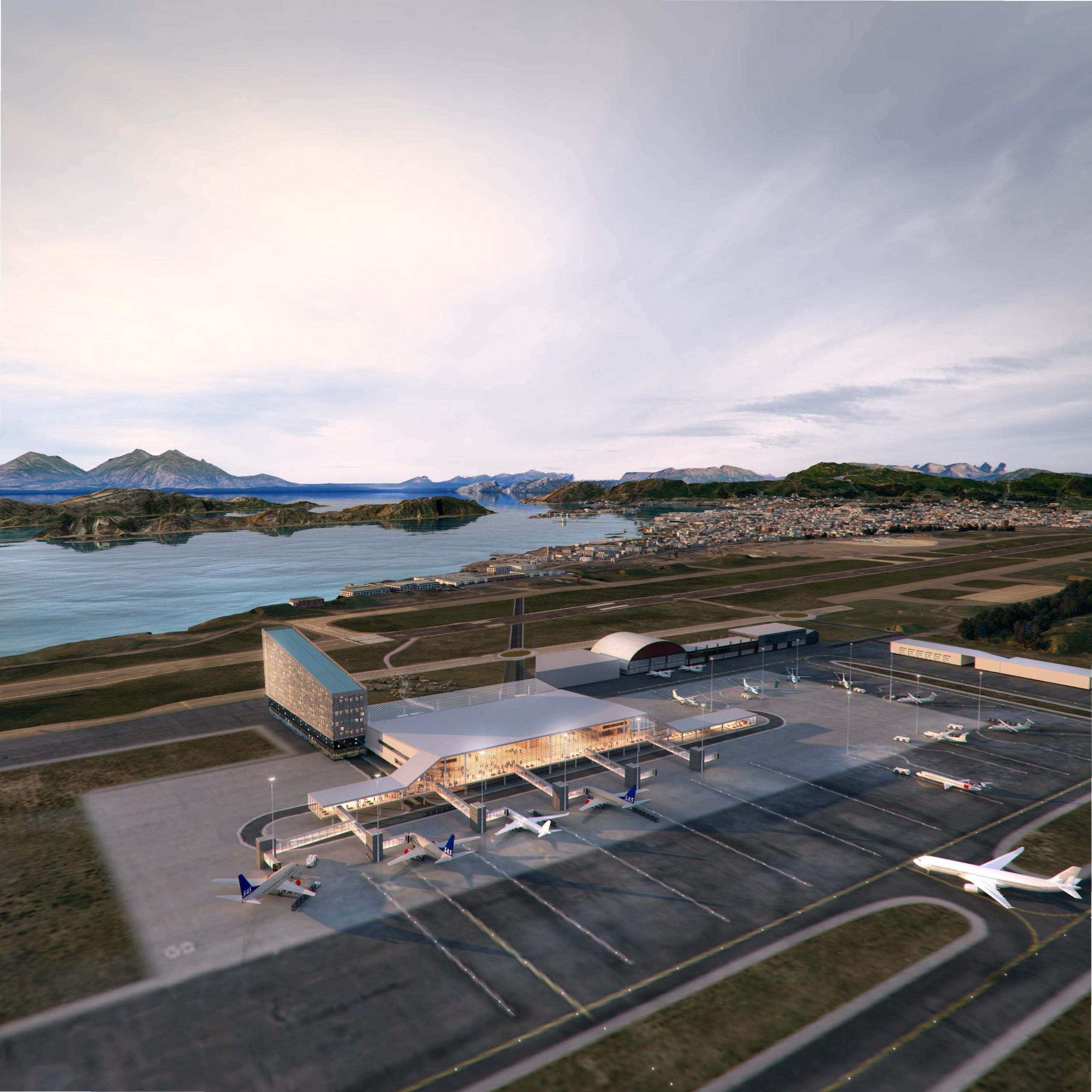 Avinor bodø nye lufthavn marstrand